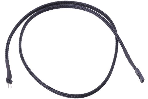 Phobya 2pin-Kabel Verlängerung Buchse/Stecker 60cm - Schwarz