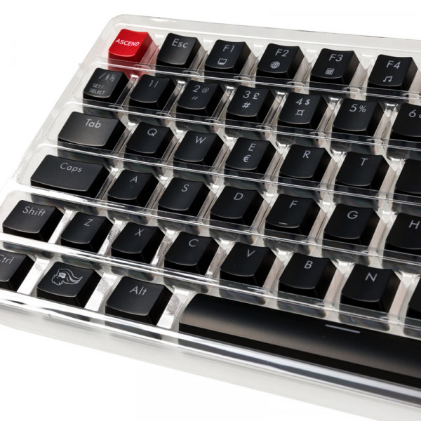 Glorious PC Gaming Race ABS Keycaps - 105 Tasten, schwarz, NO-Layout