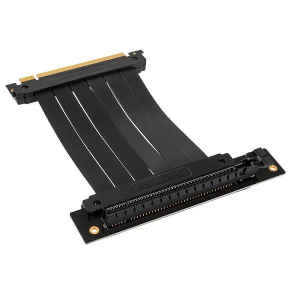 PHANTEKS PCI-E x16Riser Flachband-Kabel, 90 Grad, 15cm - schwar