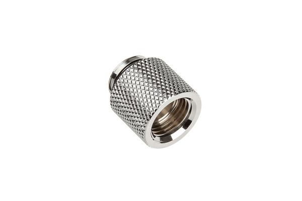 Bitspower Verlängerung G1/4 Zoll auf G1/4 Zoll, 15mm - Shiny Silver