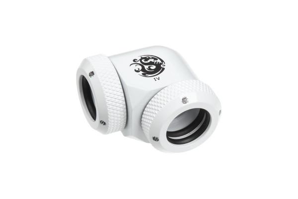 Bitspower Multi-Link Adapter 90 Grad für 2x 12mm AD - White