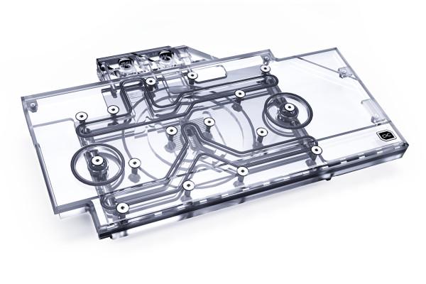 Alphacool Eisblock Aurora Acryl GPX-N RTX 3090/3080 ROG Strix mit Backplate