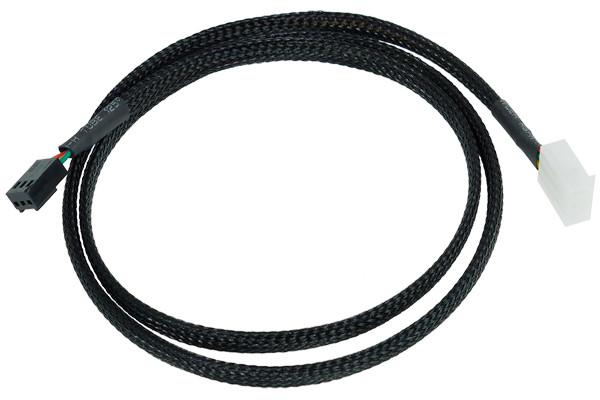 Phobya Durchflusssensorkabel 3 Polig 80cm - Schwarz gesleevt