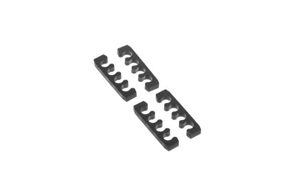 Alphacool Eiskamm X4 Flat - 3mm black - 4 Stück