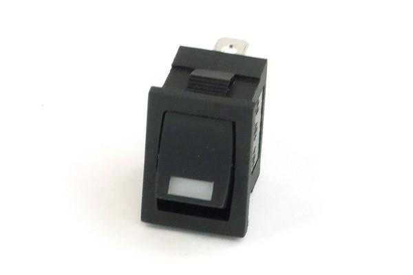 Phobya Wippschalter Eckig - LED weiß - 1-polig AN/AUS schwarz (3pin)