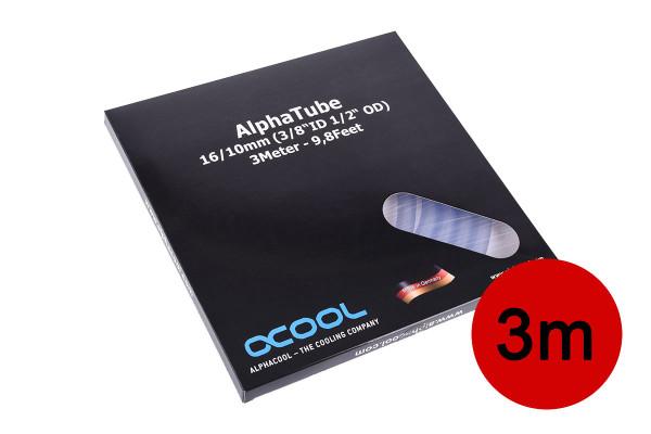 "Alphacool Schlauch AlphaTube HF 16/10 (3/8""ID) - Klar 3m (9,8ft) Retailbox"