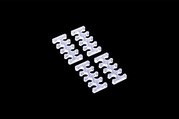 Alphacool Eiskamm X8 - 3mm clear - 4 Stück