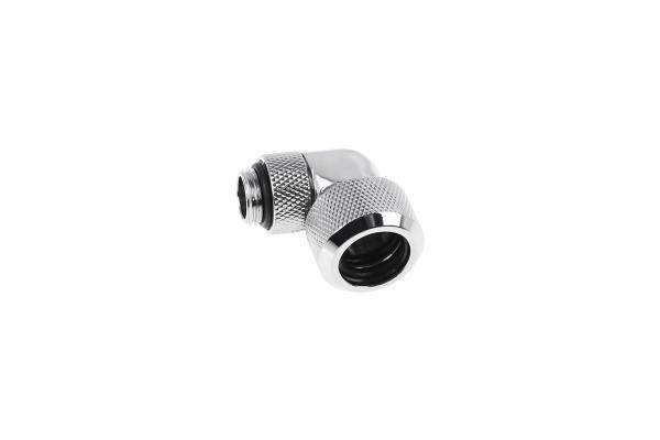 Alphacool Eiszapfen 16mm HardTube Anschraubtülle 90° drehbar G1/4 - Chrome