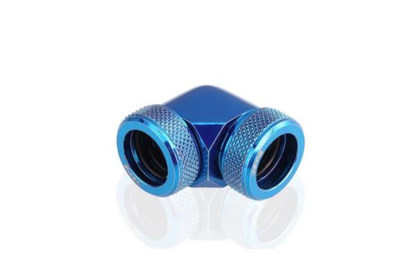 Bykski B-HTJ-DB90-V2-BLU HardTube 14mm 90° Winkelverbinder - Blue