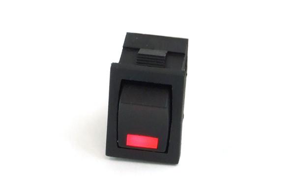 Phobya Wippschalter Eckig - LED rot - 1-polig AN/AUS schwarz (3pin)