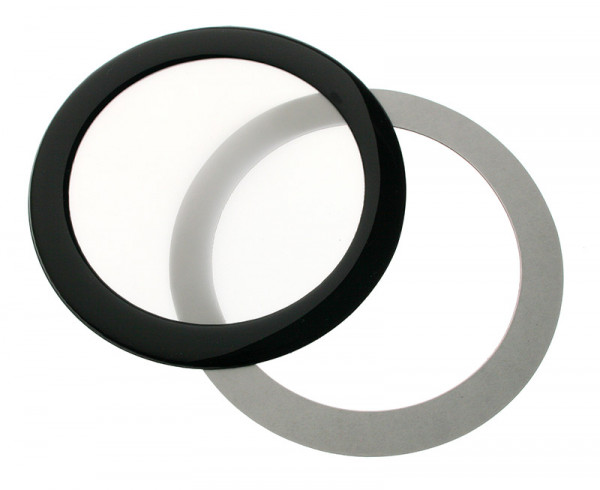 DEMCiflex Staubfilter 92mm, rund - schwarz/weiß