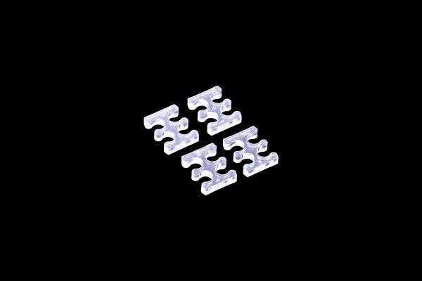 Alphacool Eiskamm X4 - 3mm clear - 4 Stück