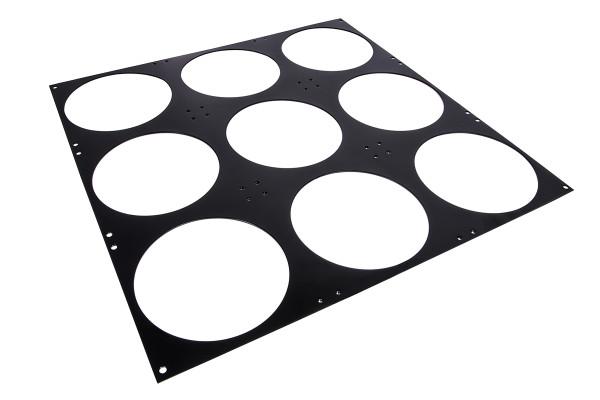Alphacool SuperNova 1260 Lüfterblende 9x140mm - Black