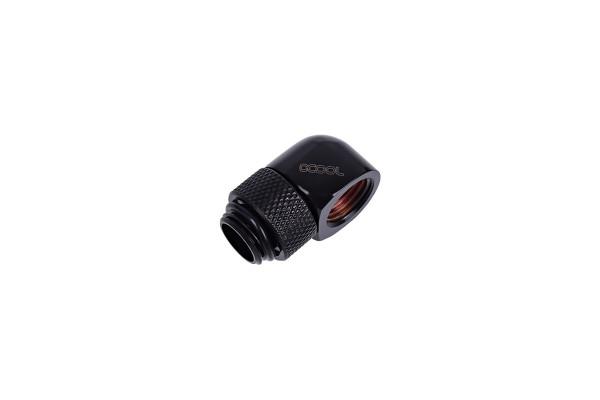 Alphacool HF L-Verbinder G1/4 AG drehbar auf G1/4 IG - Deep Black