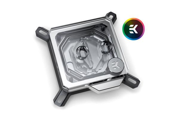 EK Water Blocks EK-Velocity Intel RGB CPU Wasserkühler - Nickel + Acryl