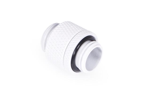 Alphacool Eiszapfen Doppelnippel drehbar G1/4 AG auf G1/4 AG - White