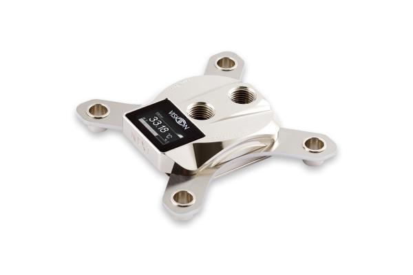 Aquacomputer cuplex kryos NEXT mit VISION 2011/2011-3, Nickel/.925 Silber