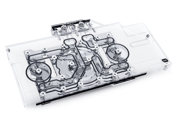 Alphacool Eisblock Aurora Acryl GPX-A Radeon RX 6800 Nitro+ mit Backplate