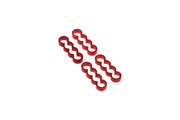 Alphacool Eiskamm Alu X4 Flat - 4mm red - 4 Stück