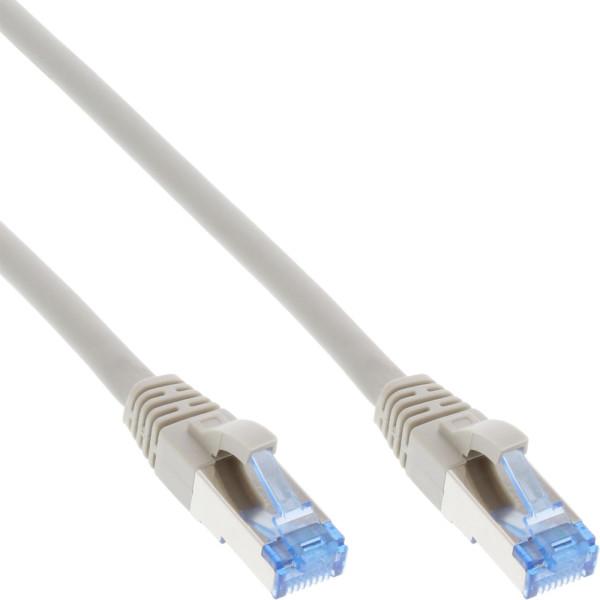 InLine Patchkabel Cat.6A, S/FTP (PiMf), 500MHz, grau, 1m