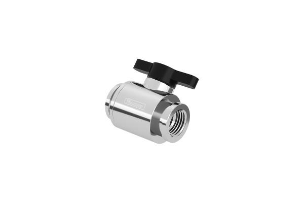 Barrow Mini Water stop valve - Shiny silver main body+ classic black aluminum handle