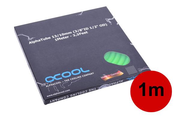 "Alphacool Schlauch AlphaTube HF 13/10 (3/8""ID) - UV Grün 1m (3,3ft) Retailbox"
