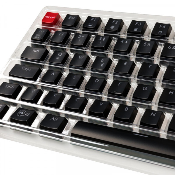 Glorious PC Gaming Race ABS Keycaps - 105 Tasten, schwarz, DE-Layout