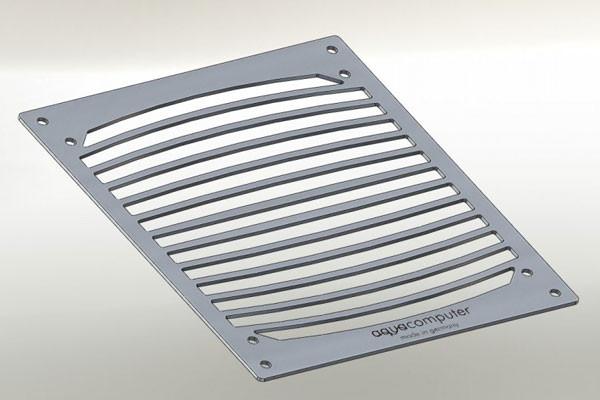 Aquacomputer Einbaublende für airplex modularity system 140, Edelstahl gebürstet