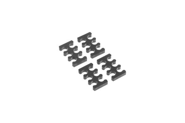 Alphacool Eiskamm X6 - 3mm black - 4 Stück