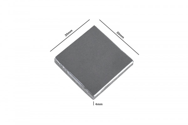 Cooling Junkies Wärmeleitpad Thermal Pad Industriequalität 30x30x4mm 5W/mK Wärmeleitfähigkeit