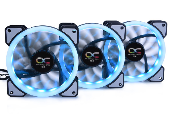 Alphacool Eiszyklon Aurora LUX Digital RGB - 3er Kit (120x120x25mm)