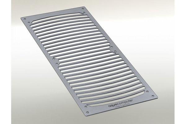 Aquacomputer Einbaublende für airplex modularity system 280, Edelstahl gebürstet