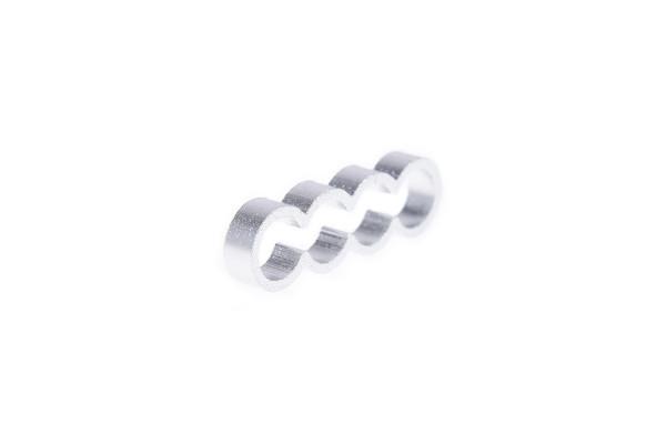 Alphacool Eiskamm Alu X4 Flat - 4mm silver - 4 Stück