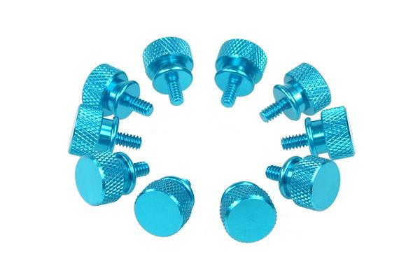 Thumbscrews Gehäuse blau Bigpack (10 Stück)
