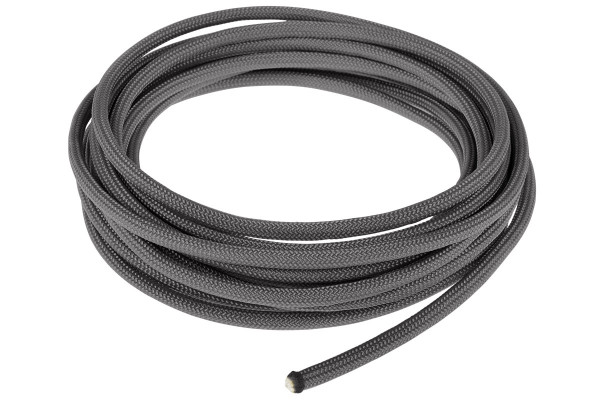 Alphacool AlphaCord Sleeve 4mm - 3,3m (10ft) - Charcoal Grey (Paracord 550 Typ 3)