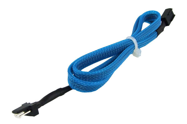 Phobya Verlängerung 3Pin Molex extra lang 60cm - UV Blau
