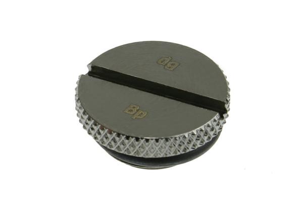Bitspower Verschlussstopfen G1/4 Zoll flach - Black