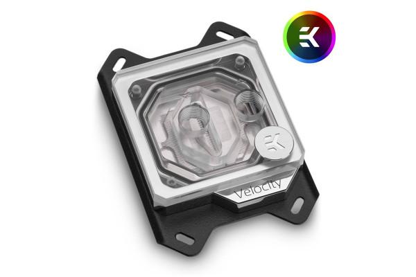 EK Water Blocks EK-Velocity AMD D-RGB CPU Wasserkühler - Nickel + Acryl