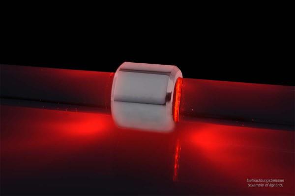 Alphacool Aurora HardTube LED Ring 16mm Chrome - Rot