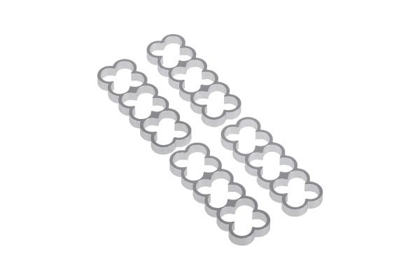 Alphacool Eiskamm Alu X12 - 4mm silver - 4 Stück