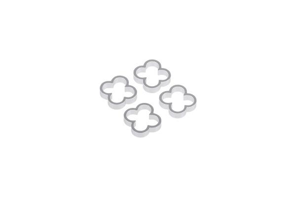 Alphacool Eiskamm Alu X4 - 4mm silver - 4 Stück