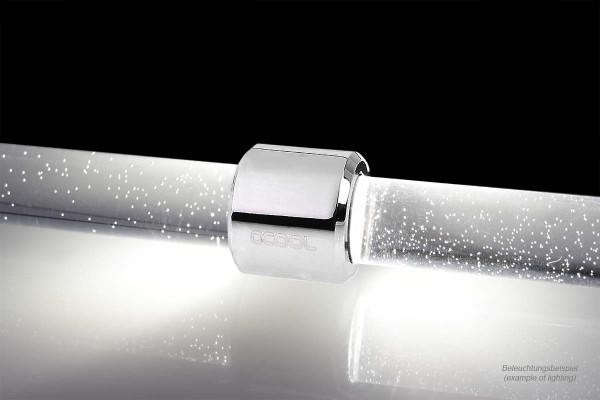 Alphacool Aurora HardTube LED Ring 13mm Chrome - Weiß