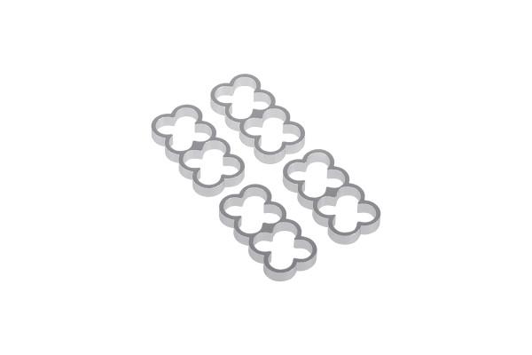 Alphacool Eiskamm Alu X8 - 4mm silver - 4 Stück