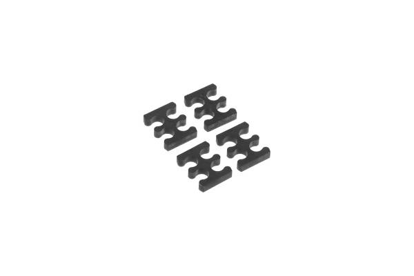 Alphacool Eiskamm X4 - 3mm black - 4 Stück